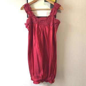 BCBG MAXAZRIA Red Silk Dress